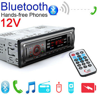 12V Car Bluetooth Music Stereo FM Radio MP3 Audio Player AUX USB/SD Port In-Dash