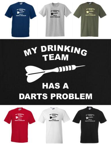 S A 5xl Mi potable equipo tiene un Dardos problema divertida camiseta