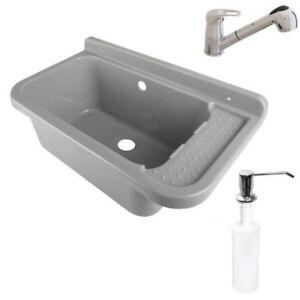 Ausgussbecken Mit Armatur : ausgussbecken 50x34x27 waschbecken waschtrog armatur ~ Watch28wear.com Haus und Dekorationen