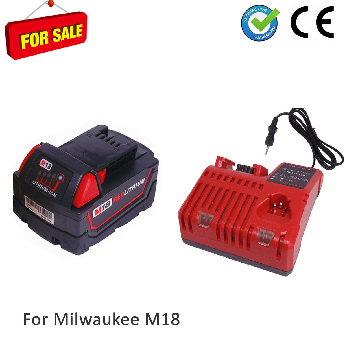 Milwaukee M18B5 18V 5,0Ah Lithiumion Akku M18B4 and Ladegerät M18 M12-18C DE