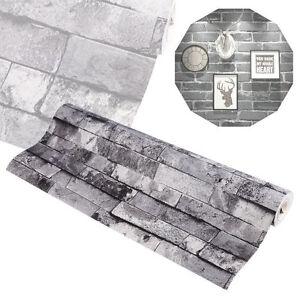 wandtapete steintapete mauer optik 3d grau vlies brick muster tapete wohnzimmer ebay. Black Bedroom Furniture Sets. Home Design Ideas