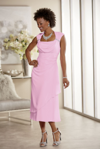 e366acd3c18 Image is loading plus-size-16W-Pink-Formal-Beaded-Tionne-Dress-