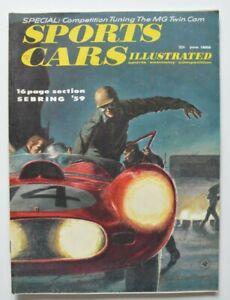 SPORTS-CARS-Illustrated-June-1959-SEBRING-MG-Twin-Cam-Lancia-Appia-Alfa-2000