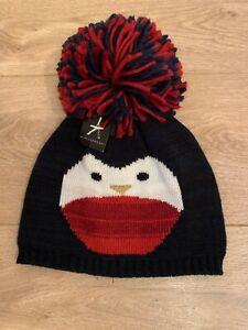 Primark-Ladies-Penguin-Wooly-Hat-With-Huge-Pom-Pom-New-BNWT