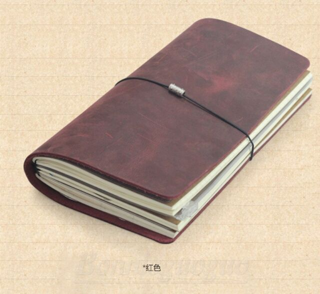 Hand Made Genuine Leather Travel Diary Journals Notebooks Blank Diaries