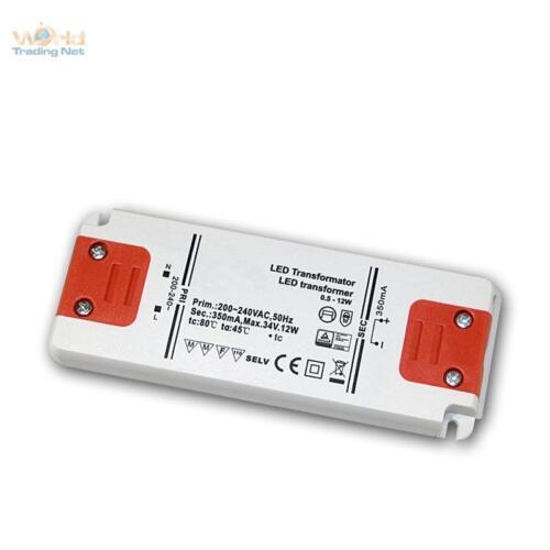 Slim LED Transformator Konstantstrom 350mA max 12W 34V Trafo Treiber EVG Drossel