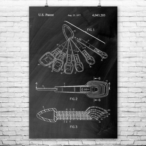 Measuring Spoons Poster Print Baker Gift Bakery Wall Art Culinary Gifts