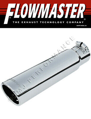 """Flowmaster 15361 Polished Clamp-On Exhaust Tip 3/"""" Rolled Angle Fits 2.5/"""" Pipe"""