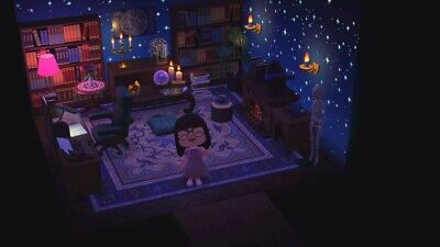Animal Crossing New Horizons Black/ Dark / Magic library ... on Living Room Animal Crossing New Horizons  id=86491