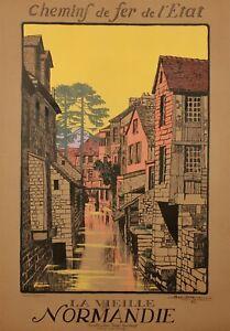 Affiche-originale-Geo-Dorival-La-vieille-Normandie-1913