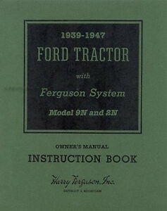 ford 2n and 9n tractor owners manual 1939 1940 1941 1942 43 1944 rh ebay com evo 9 service manual pdf maxxforce 9 service manual