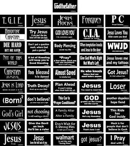 Christian-Bumper-Sticker-Religious-Decal-Set-of-51