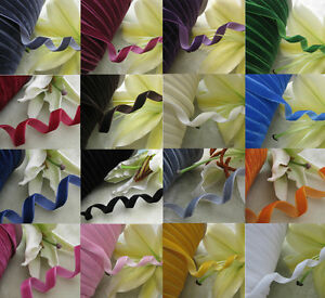 3-8-034-5-8-034-Velvet-Ribbon-Appliques-Craft-Sewing-DIY-Upick-From-20-Colors-5yards