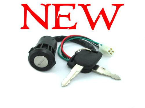 New Scooter Atv 4 Wire Ignition Switch Plug Key Set 50cc 70cc 90cc 110cc 125cc