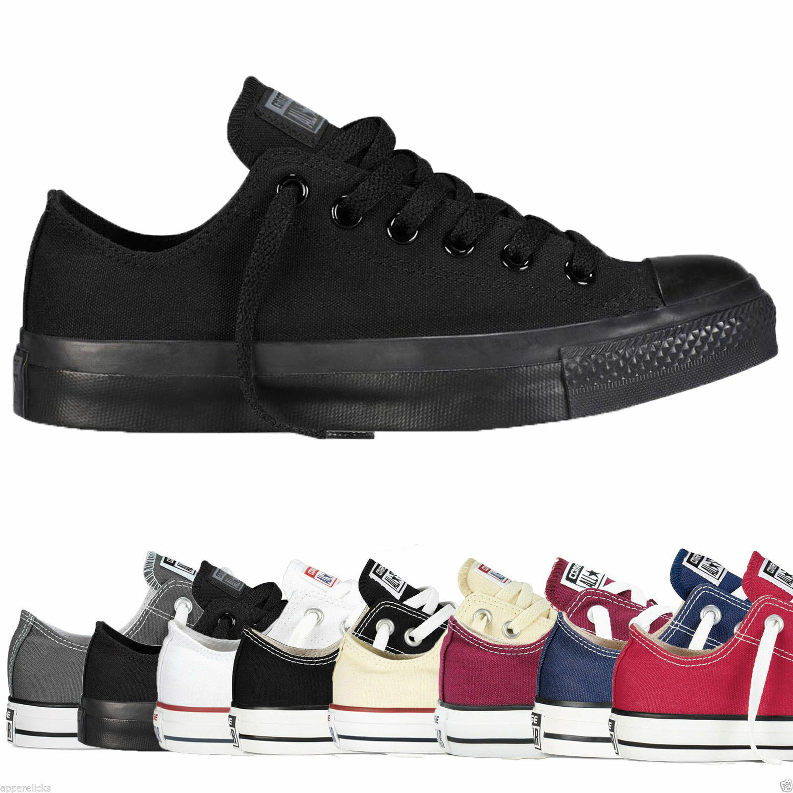 converse chuck taylor all star low tops mens womens unisex. Black Bedroom Furniture Sets. Home Design Ideas