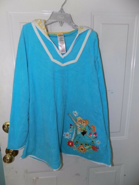 fcc7cdede2 Disney Store Elsa and Anna Frozen Dry Ice Blue Swimsuit Cover-Up Girl's NEW