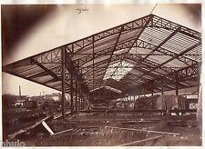 B249 Photo vintage Originale 1870 Sotteville les Rouen construction albumen