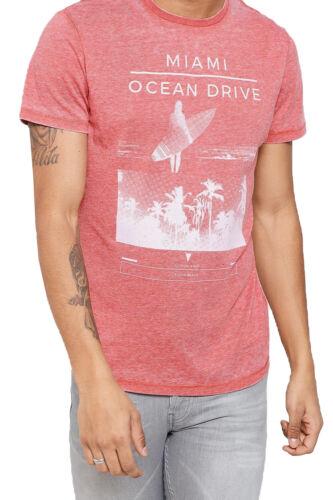 Threadbare Mens Campbell T Shirt Designer Burnout Faded Graphic Print Tee Top