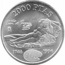 Spanien Juan Carlos 2000 Peseten 1996 Silber- Maja Vestida Goya