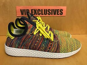 3640dd3ababd4 Image is loading Adidas-Pharrell-Williams-Tennis-HU-Multi-Color-Yellow-