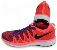 Nike Flyknit Lunar 2 Punch/Blu/Rosso Uomo Scarpe Da Ginnastica Corsa Uk - 8.5/43