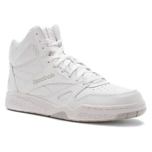 9acd4af857714 Reebok Classic Royal BB4500 High Top Sneaker in All White in Sizes ...