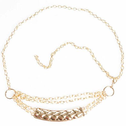 212 edler Kettengürtel Hüftgürtel Metall Gürtel mit Kettchen gold silber