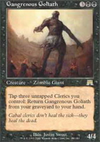 English Onslaught MTG Magic 4x Gangrenous Goliath NM-Mint
