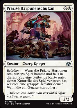 Aether Revolt Magic Präzise Harpunenschützin 2x Deadeye Harpooner