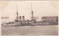 "Imperial Japanese Navy Postcard. ""Ashasi"" Battleship. Submarine Depot.  c 1901"