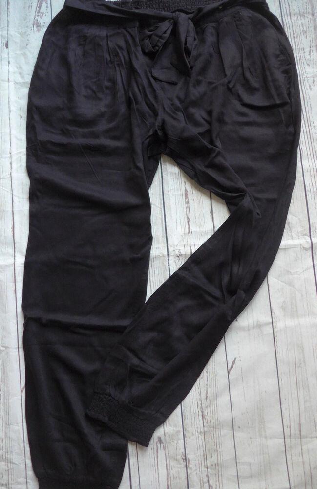 Ajc Pump Viscose Pantalon Stoffhose Taille 40 - 46 Noir (278) Neuf