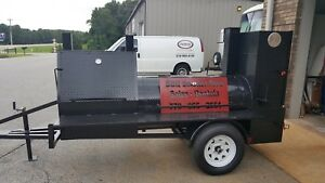 Mini-HogZilla-Mobile-BBQ-30-Grill-4-Barrel-Smoker-Trailer-Food-Truck-Concession