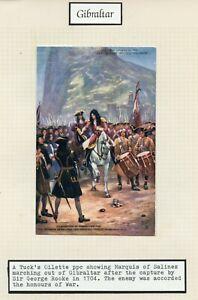 GIBRALTAR-unused-Tuck-039-s-Oilette-postcard-Marquis-Salines