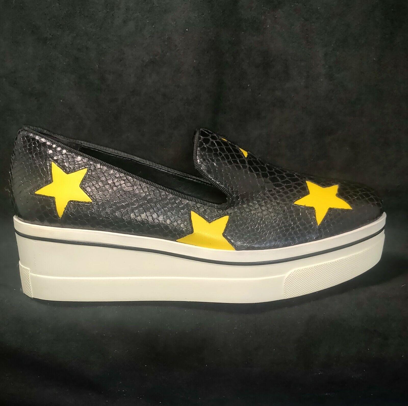 Stella McCartney BINX Scarpa Star Platform Black Slip-On Loafer US 10 EU 41