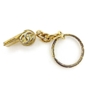 Chanel-key-ring-Key-holder-Gold-Woman-unisex-Authentic-Used-T4482