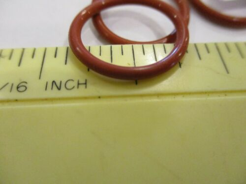 """015 Silicone O-ring 70 durometer9//16/"""" ID x 11//16/"""" OD x 1//16/"""" thick Quan 4."""