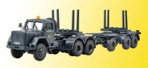 KIBRI 14054 h0 Camion Magirus-Deutz 230d 26 AK avec seuils remorque DB