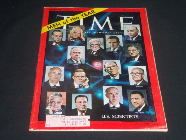 1961 JANUARY 2 TIME MAGAZINE - U.S. SCIENTISTS: MEN OF THE YEAR - T 1777
