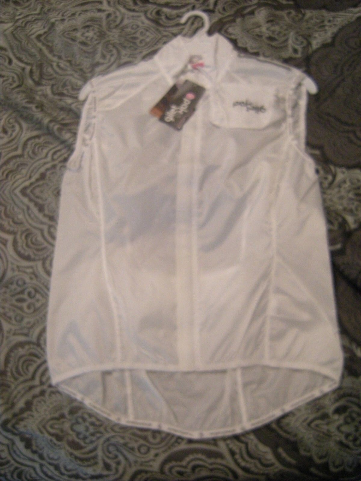 Brand New Womens White Endura Pakagilet Sport Wind Cycling Vest, Size XL