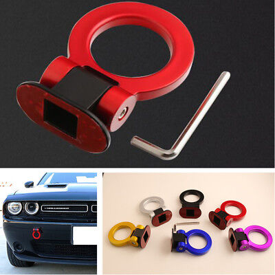 Red Ring Track Racing Tow Hook Style Car Offroad Decorative Stickers Universal