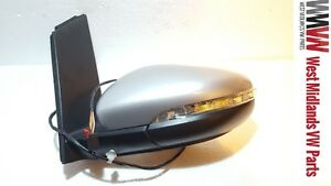 VW Touran Mk2 2009-2015 Door Wing Mirror Electric  Left Passanger Side in Silver