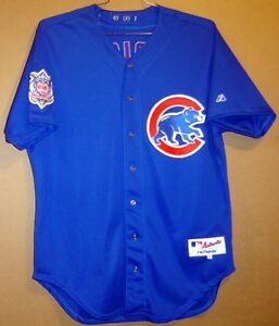 60641a84808 2000 CHICAGO CUBS HENRY RODRIGUEZ ROYAL BLUE  40 GAME WORN Size 48 ...