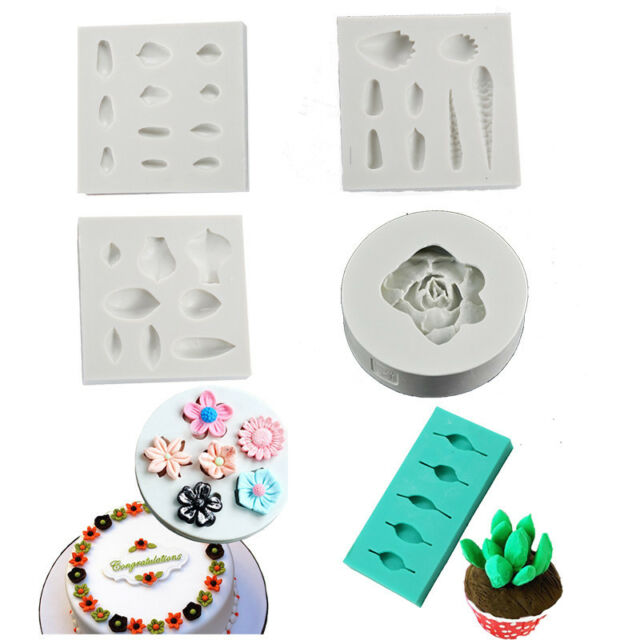 Cake Decoration Baking Mold Fondant Crerative Gumpaste DIY Succulent Plant Mould