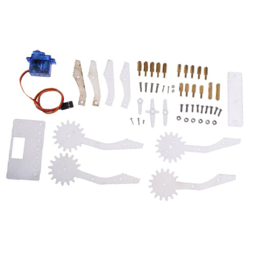 1set Acrylic Robot Arm Clamp Claw Mount Kit w// 9G Servo for DIY Robot Kit