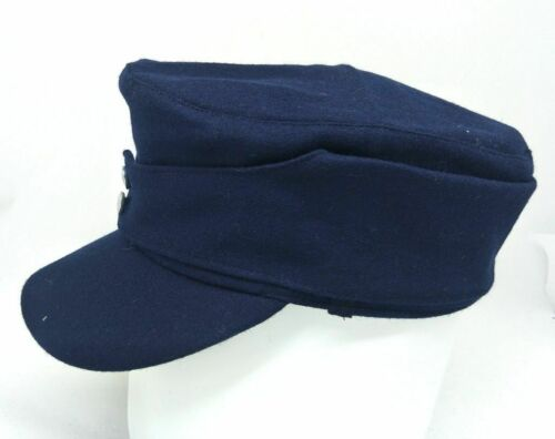 SIZE L WWII GERMAN AIR FORCE WH M43 PANZER BLUE WOOL FIELD CAP MILITARY HAT