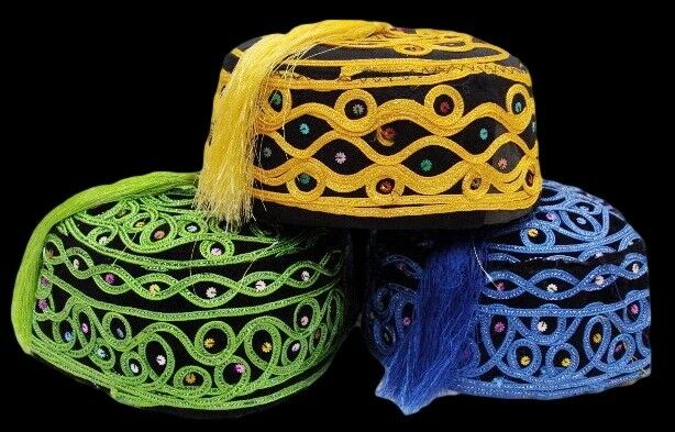 3 Turkish Ottoman Egypt Tarboush Fez Hat Tassel Cloths Traditional Costume  307  23314ee7900d