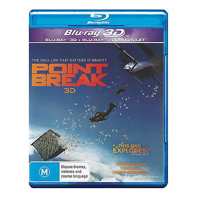 Point Break (2016) 3D + 2D Blu-ray Brand New Aus Region B Luke Bracey
