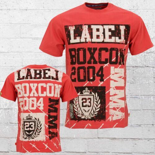 Label 23 Männer T-Shirt MMA rot Herren Tshirt Men/'s Tee red