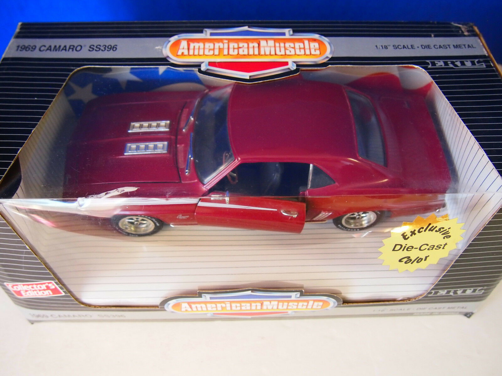 ERTL 1 18 AMERICAN MUSCLE 1969 CAMARO SS396 SS396 SS396 EXCLUSIVE COLOR e779a5
