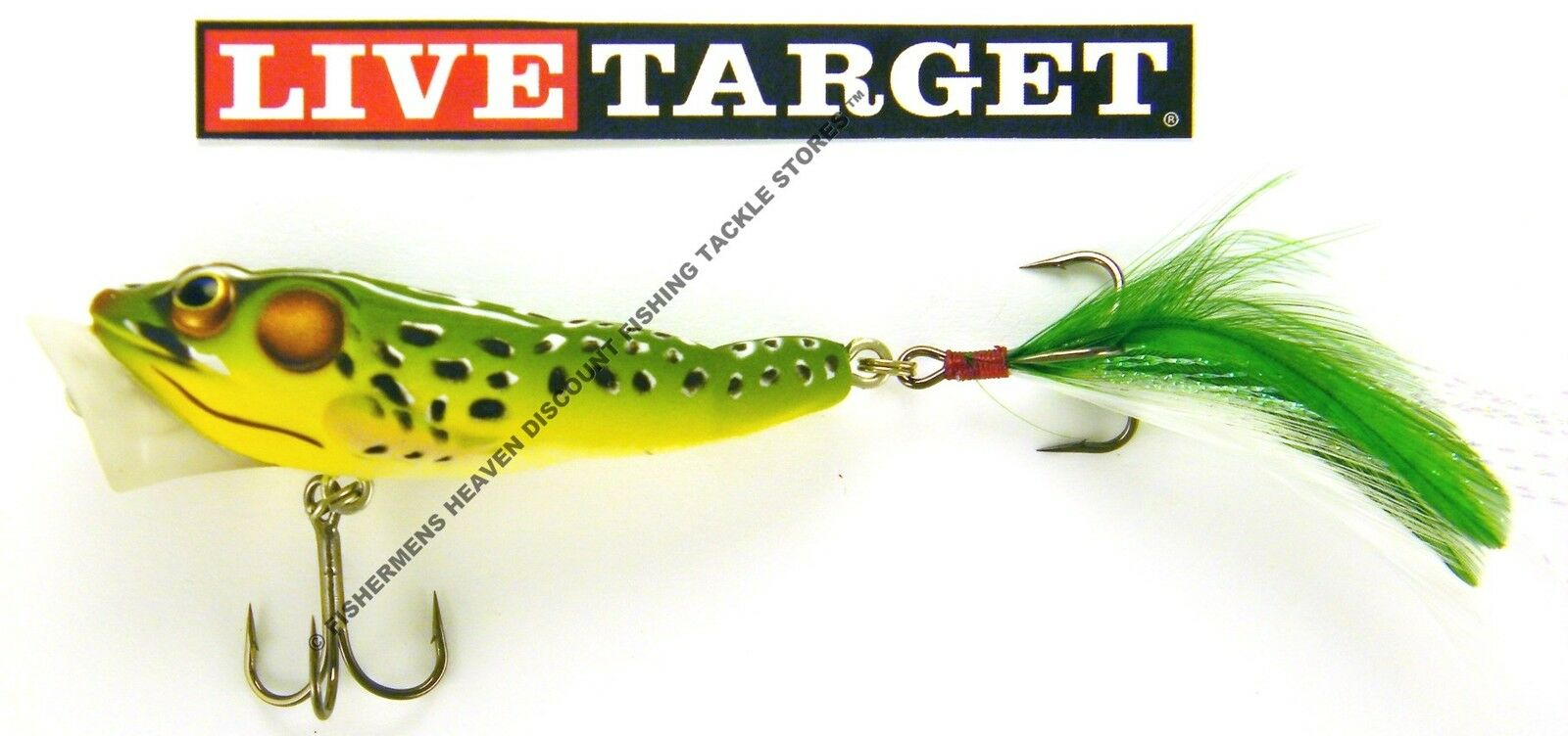 """NEW Koppers Popper Frog Floating 3/""""  Green//Yellow FGP75T500"""
